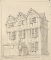 [The Old House in Butcher's Row at] Hereford